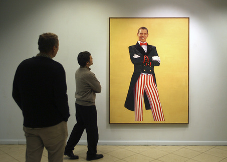 Russia Painting of Obama