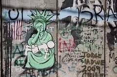 handala on palestine wall