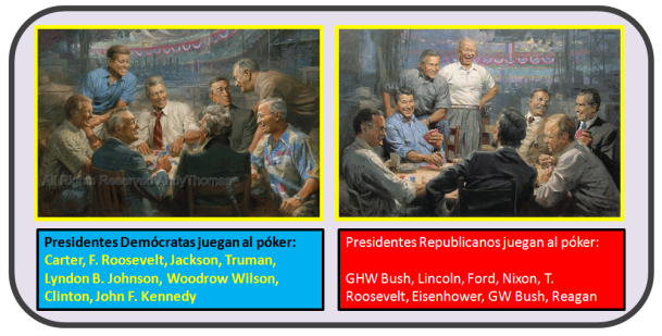 presidentes juegan al póker